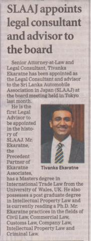 SLAAJ appoints legal consultant and advi...